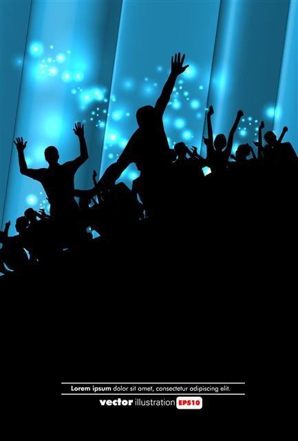 狂欢派对人物剪影背景