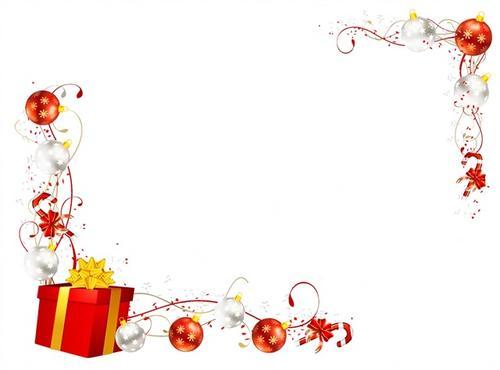圣诞节白色背景装饰图片