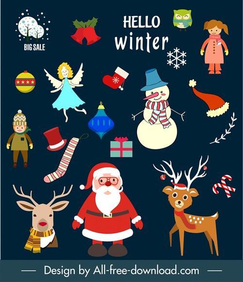 圣诞节卡通模板