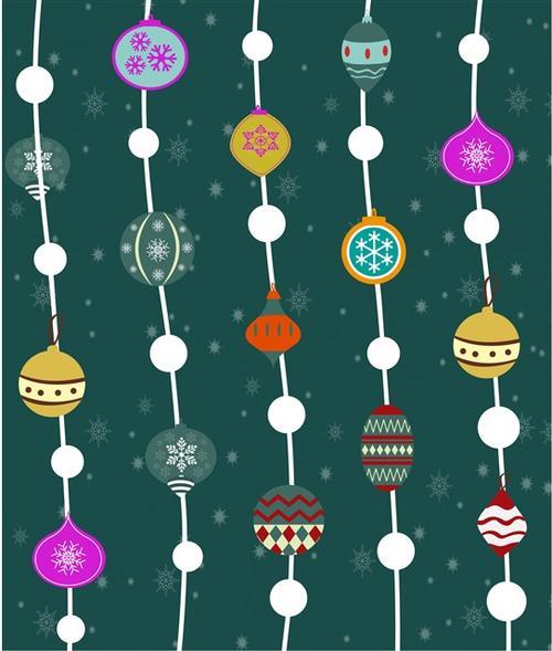 圣诞节装饰元素背景