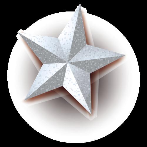 圣诞节五角星元素图