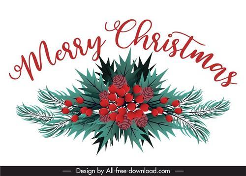 圣诞树枝装扮元素图