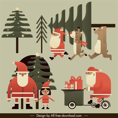 圣诞节卡通元素大全