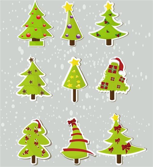 卡通手绘圣诞树图片