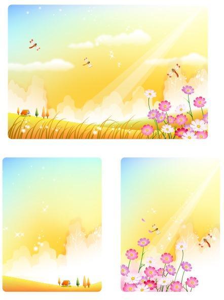 小清新春天背景模板