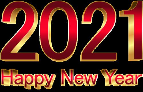 2021牛年新年数字
