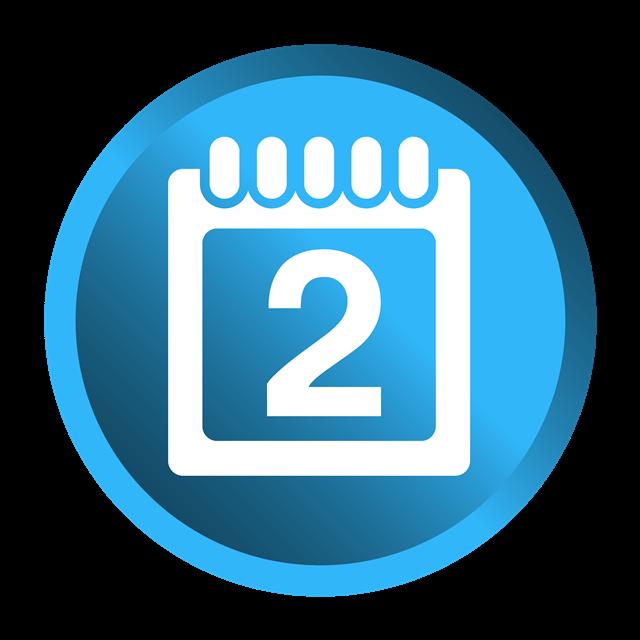蓝色日历icon