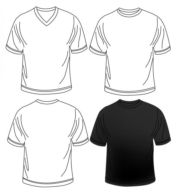 T恤轮廓设计简图