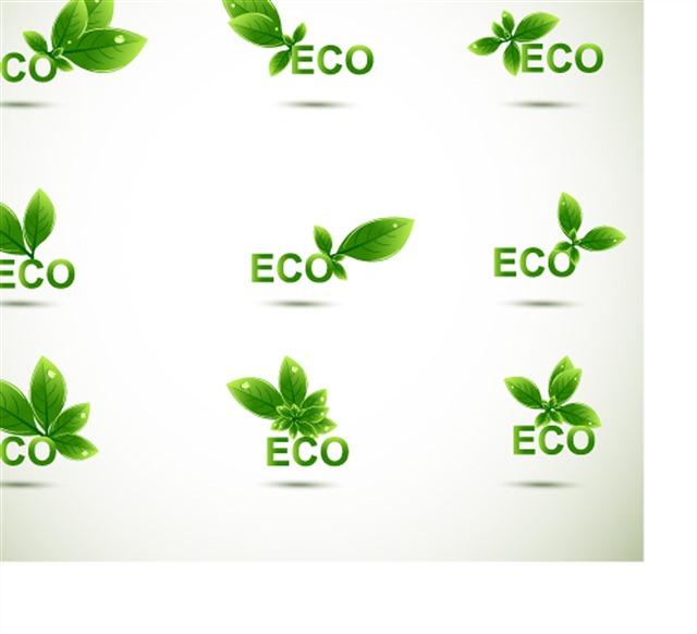 生态绿色eco节能图标