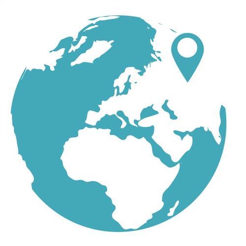 世界全球定位图标