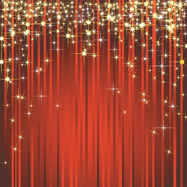 红色丝绸周年庆典背景