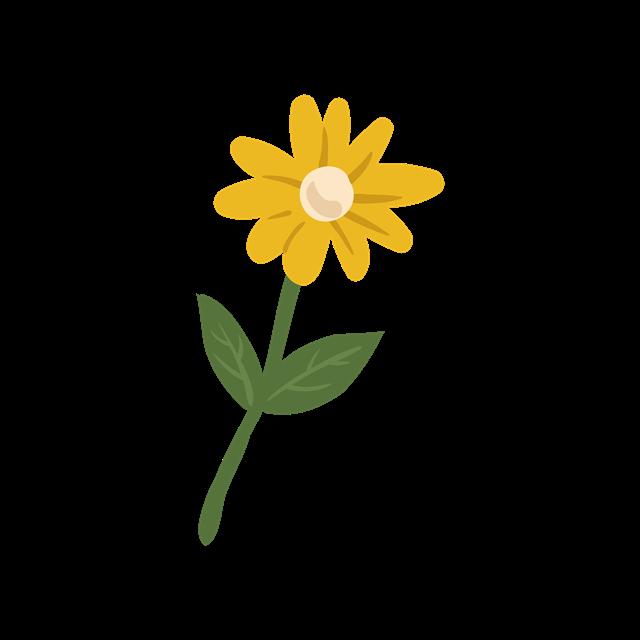 黄色卡通小雏菊