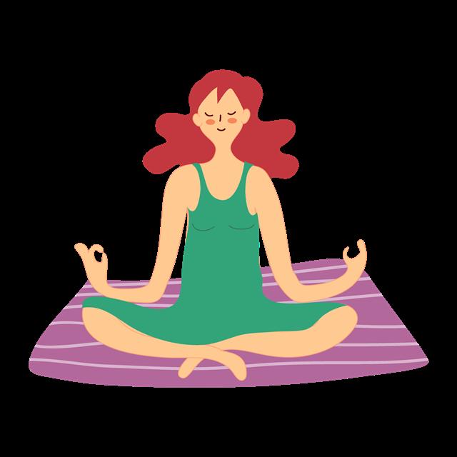 练瑜伽的女子