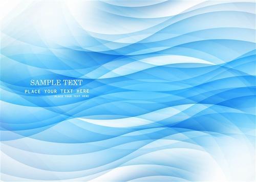 天蓝色波浪背景墙