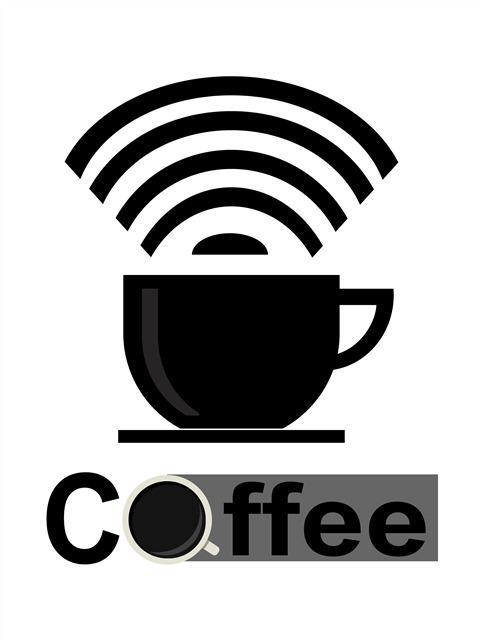 咖啡杯创意logo