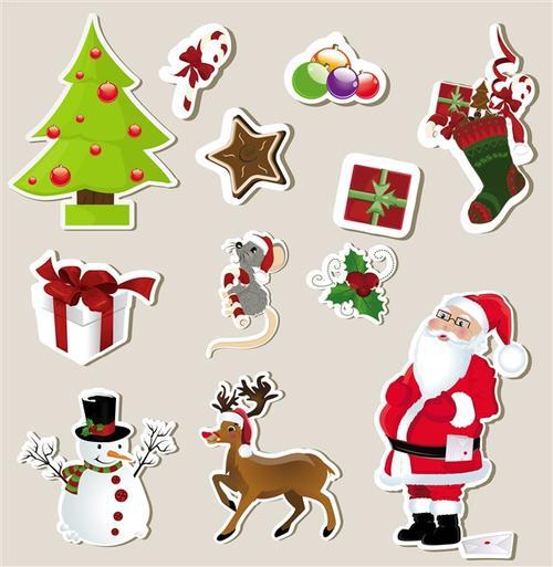 卡通圣诞贴纸图片