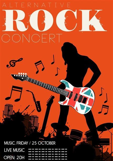 摇滚音乐节海报背景
