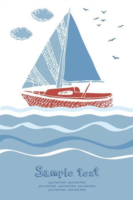 海洋帆船背景图