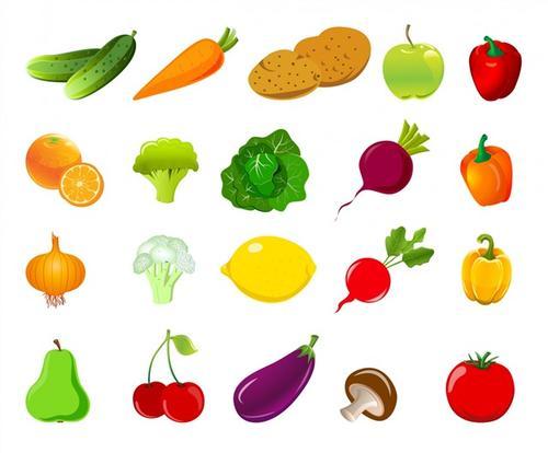 卡通蔬菜矢量图标