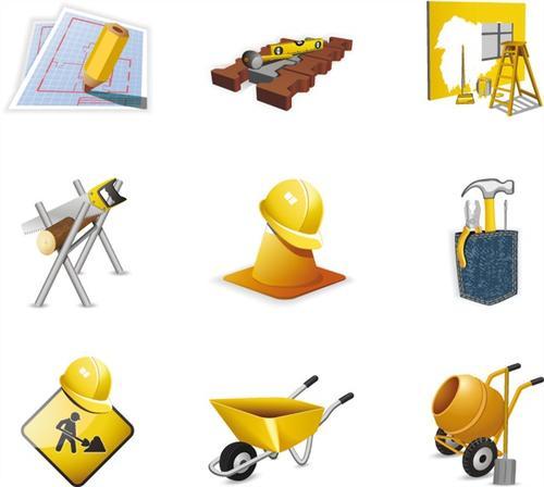 施工现场工具图标