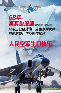 人民空军生日快乐海报