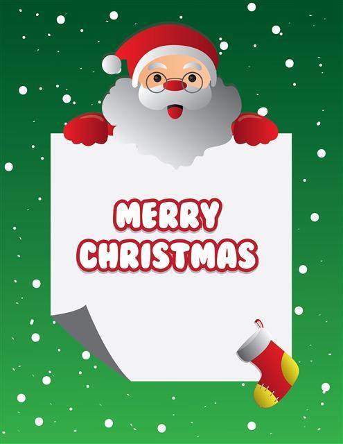 手绘圣诞老人圣诞背景图片