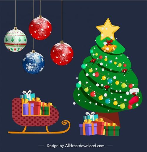 圣诞节主题设计元素