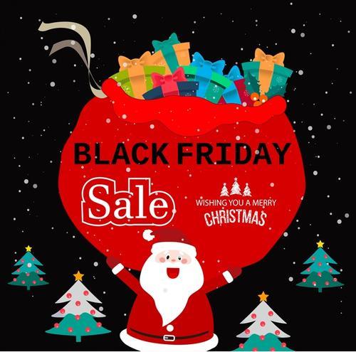 黑色星期五圣诞节宣传插画