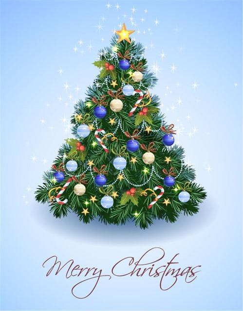 圣诞树背景图