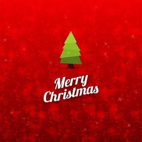 圣诞节快乐红色背景图片