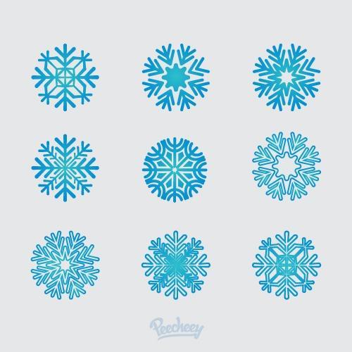 蓝色雪花圣诞节图片