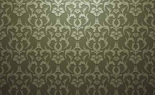 欧式花纹墙纸背景