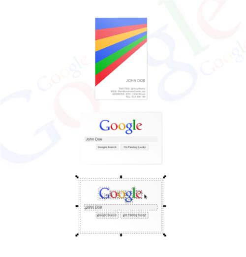谷歌公司名片模板