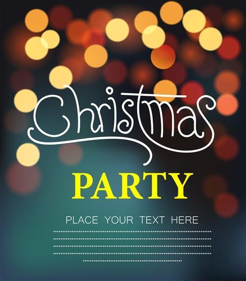 圣诞节派对海报光圈背景图