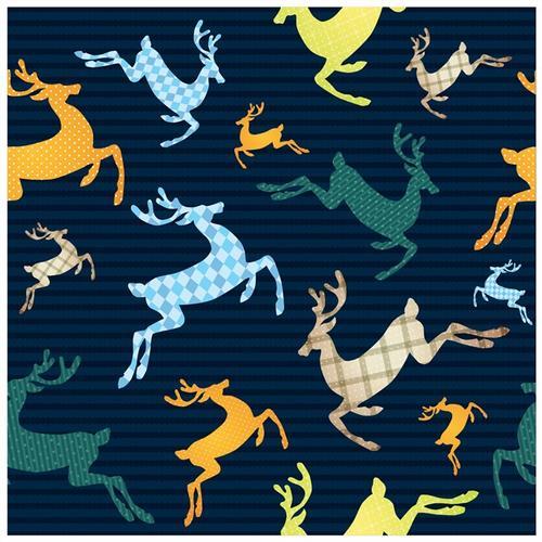 圣诞节驯鹿插画背景图片