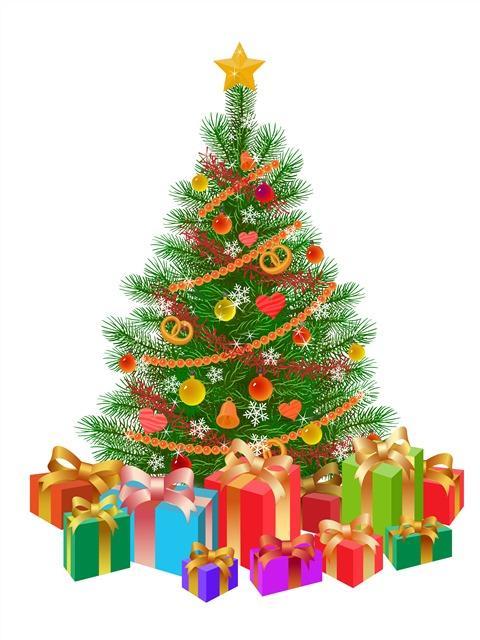 唯美圣诞树图片