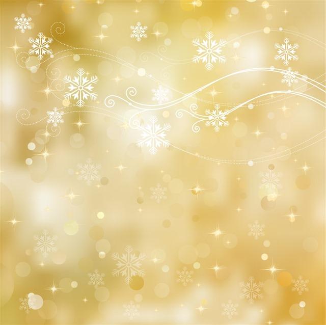 金色圣诞节背景图