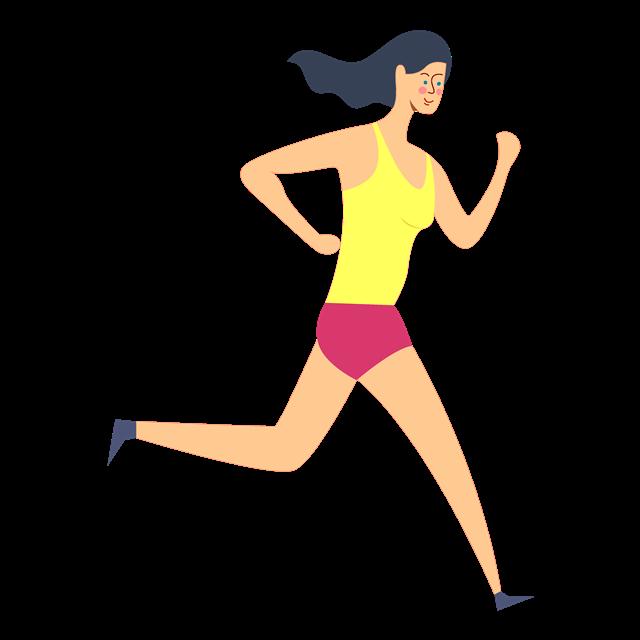 户外运动跑步人物