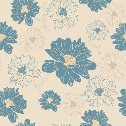 小清新花卉图案底纹背景