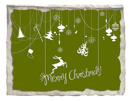 圣诞节麋鹿背景图片