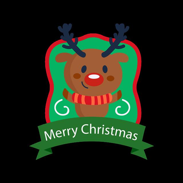 卡通圣诞节驯鹿设计素材