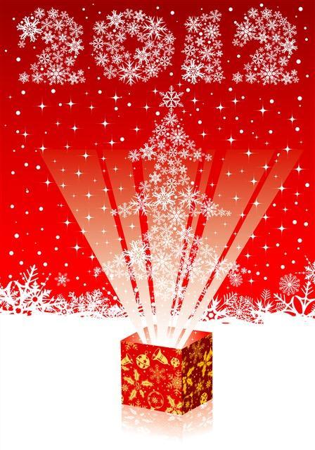 卡通圣诞雪花背景图片