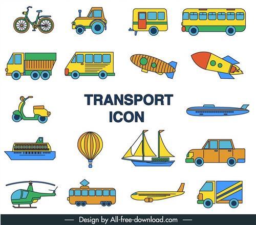 各种交通工具图标