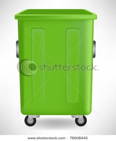 绿色垃圾桶标志