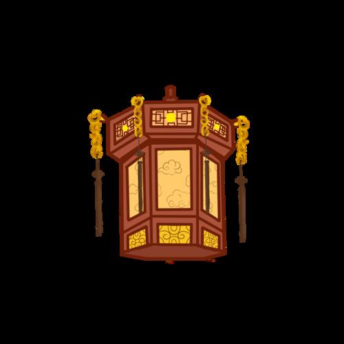 木制仿古吊灯