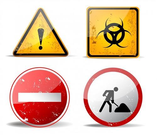 注意安全施工标志