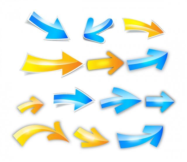 指示箭头矢量图标合集