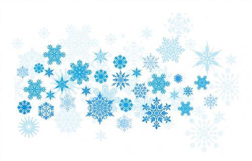 天蓝色雪花背景