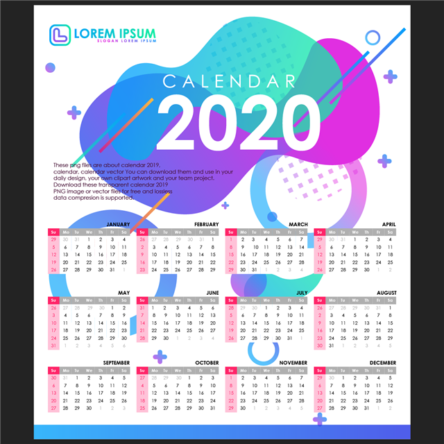 2020年12月日历表查询