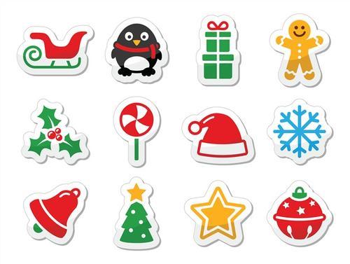 圣诞节可爱小图标图片